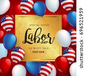labor day sale promotion... | Shutterstock .eps vector #696521959