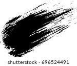 vector black line  grunge brush ... | Shutterstock .eps vector #696524491