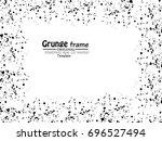grunge frame. vector... | Shutterstock .eps vector #696527494