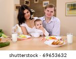 young family at home having... | Shutterstock . vector #69653632