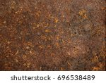 old rusted steel tank rust... | Shutterstock . vector #696538489