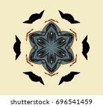the ornament on light... | Shutterstock . vector #696541459