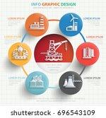 industry info graphic design... | Shutterstock .eps vector #696543109