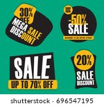set of different shape sale... | Shutterstock .eps vector #696547195