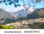panorama of funchal from... | Shutterstock . vector #696547945