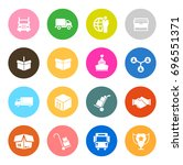 shipping icons | Shutterstock .eps vector #696551371