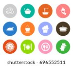 cook icons | Shutterstock .eps vector #696552511
