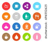 drink icons | Shutterstock .eps vector #696552625