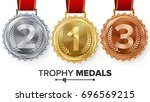 winner gold  silver  bronze... | Shutterstock .eps vector #696569215