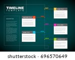 vector infographic timeline... | Shutterstock .eps vector #696570649