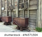 Old Rusty Rail Cars Being...