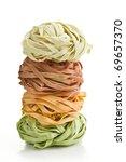 Colorful Pasta Tagliatelle On...