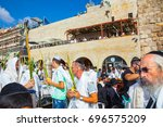 jerusalem  israel   october 12  ... | Shutterstock . vector #696575209