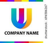 bold letter w logo design.... | Shutterstock .eps vector #696586267