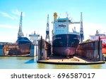 rotterdam  the netherlands  ... | Shutterstock . vector #696587017