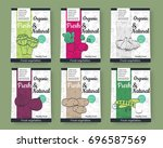 set of colorful vector hand... | Shutterstock .eps vector #696587569
