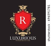 luxury logo super collection... | Shutterstock .eps vector #696591781