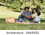 smiling happy parents and son... | Shutterstock . vector #6965920