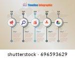 modern business timeline... | Shutterstock .eps vector #696593629