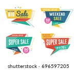 sale banner design set.... | Shutterstock .eps vector #696597205