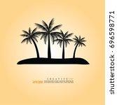 coconut tree icon.vector... | Shutterstock .eps vector #696598771