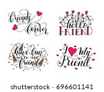 vector lettering set for... | Shutterstock .eps vector #696601141