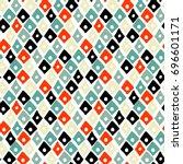 vector handdrawn tribal... | Shutterstock .eps vector #696601171