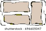 hud futuristic hi tech digital... | Shutterstock .eps vector #696605047