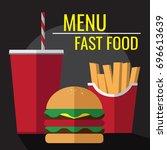fast food | Shutterstock .eps vector #696613639