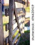 farm gate | Shutterstock . vector #696620419