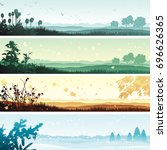 four seasons. vector banner of... | Shutterstock .eps vector #696626365