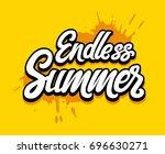 vector hand written lettering...   Shutterstock .eps vector #696630271