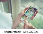 bangkok  thailand   august 15 ... | Shutterstock . vector #696632221