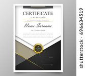 certificate premium template... | Shutterstock .eps vector #696634519