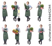 Smiling Woman Professional Gardener Gardening - Fine Art prints
