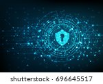 cyber security concept  shield... | Shutterstock .eps vector #696645517