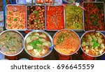 thai food on the street is... | Shutterstock . vector #696645559