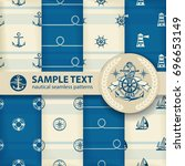 nautical background set ... | Shutterstock .eps vector #696653149