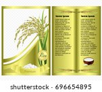 rice package. vector template... | Shutterstock .eps vector #696654895