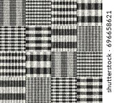 abstract patchwork checked... | Shutterstock .eps vector #696658621
