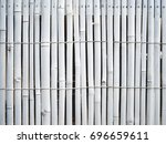 White Painted Bamboo Fence