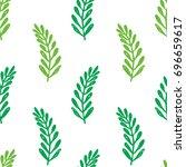 vector seamless cartoon branch...   Shutterstock .eps vector #696659617