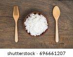 cooked rice    Shutterstock . vector #696661207