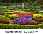 Flower Garden In North Of...