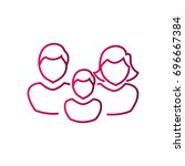 family icon flat. | Shutterstock .eps vector #696667384