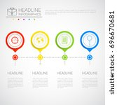 headline infographic design... | Shutterstock .eps vector #696670681