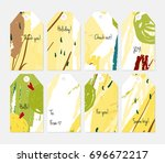 hand drawn creative tags.... | Shutterstock .eps vector #696672217