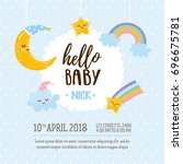 """""""hello baby"""" greeting card... 