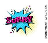 comic speech chat bubble pop... | Shutterstock .eps vector #696678421