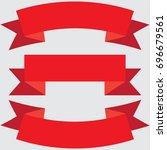 banner vector icon set red... | Shutterstock .eps vector #696679561